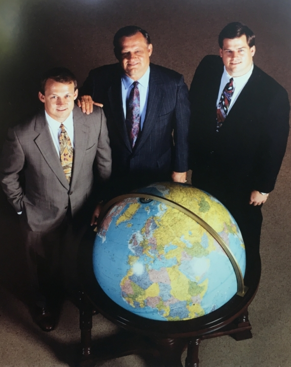 Mike Markwardt with his father (Hub) and brother (Steve) built America's largest import ceiling fan business... ENCON.